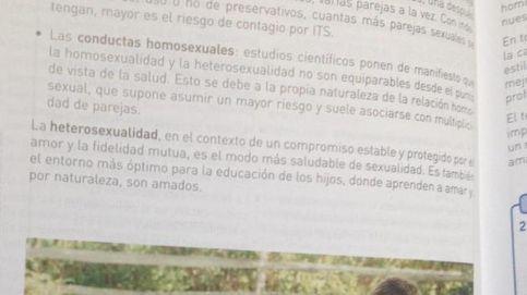 Retiran un texto de biología de 3º ESO que asocia homosexualidad con riesgo