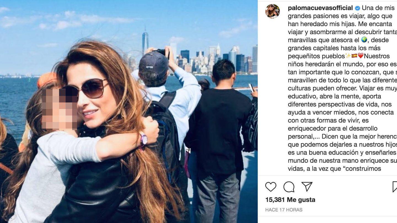 Imagen del Instagram de Paloma Cuevas. (RR.SS.)