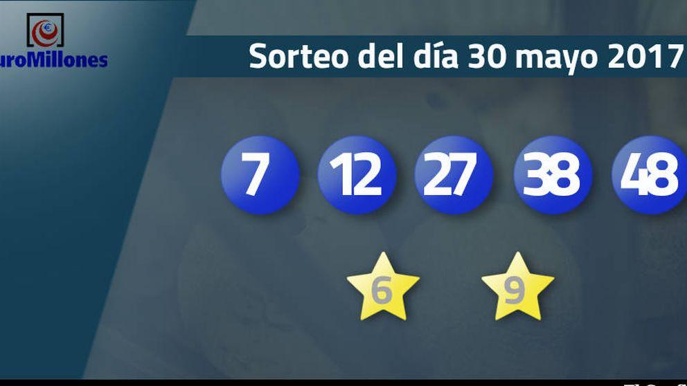 Resultados del sorteo del Euromillones del 30 de mayo de 2017