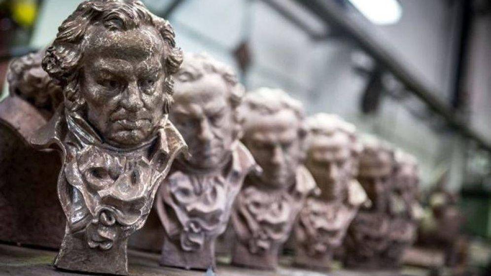 Foto: Una imagen de las estatuillas de los Premios Goya. (Academia de cine)