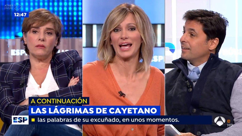 Anabel Alonso, Susanna Griso y Fran Rivera. (Atresmedia Televisión)