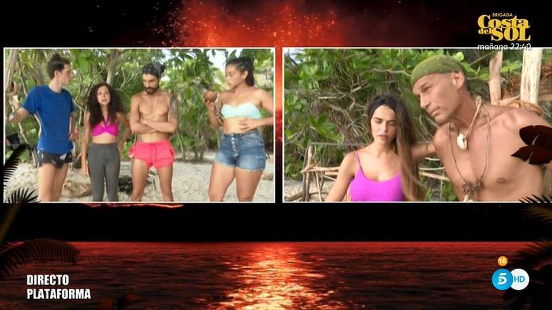 Violeta y Carlos Lozano, sancionados en 'Supervivientes 2019'. (Telecinco)