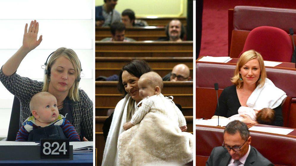 Foto: Son varias las diputadas europeas que han llevado a sus bebés al Congreso (Reuters/EFE)