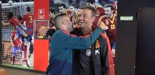 Post de El cariñoso abrazo de Jordi Alba con Luis Enrique (y Sergio Ramos)