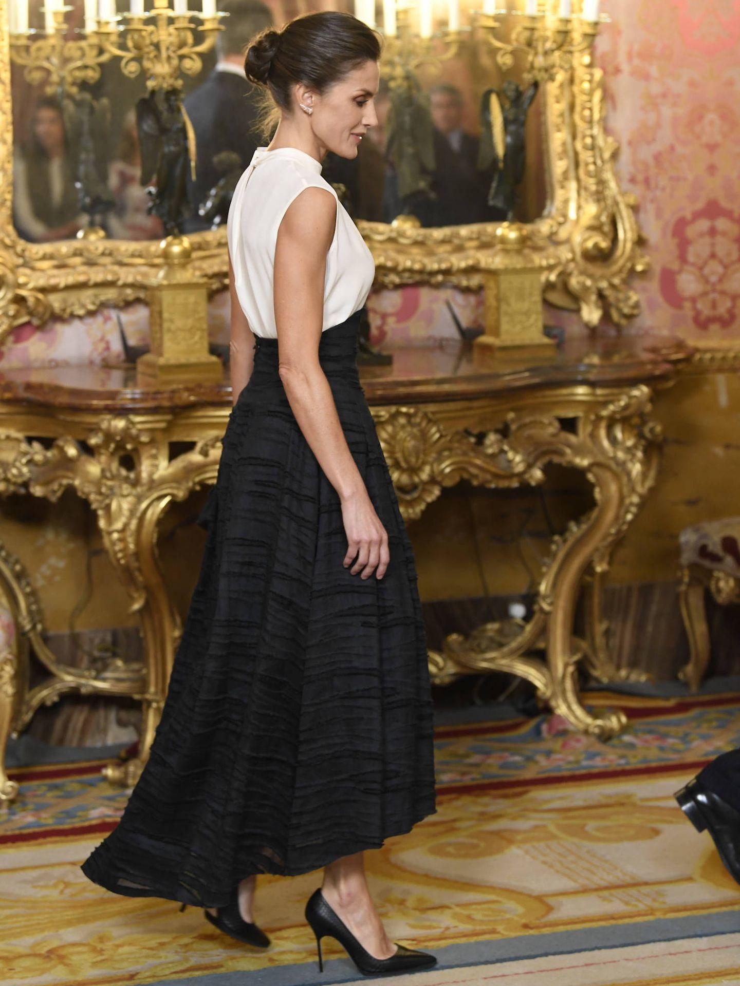 La Reina, con su falda de H&M Conscious. (LP)