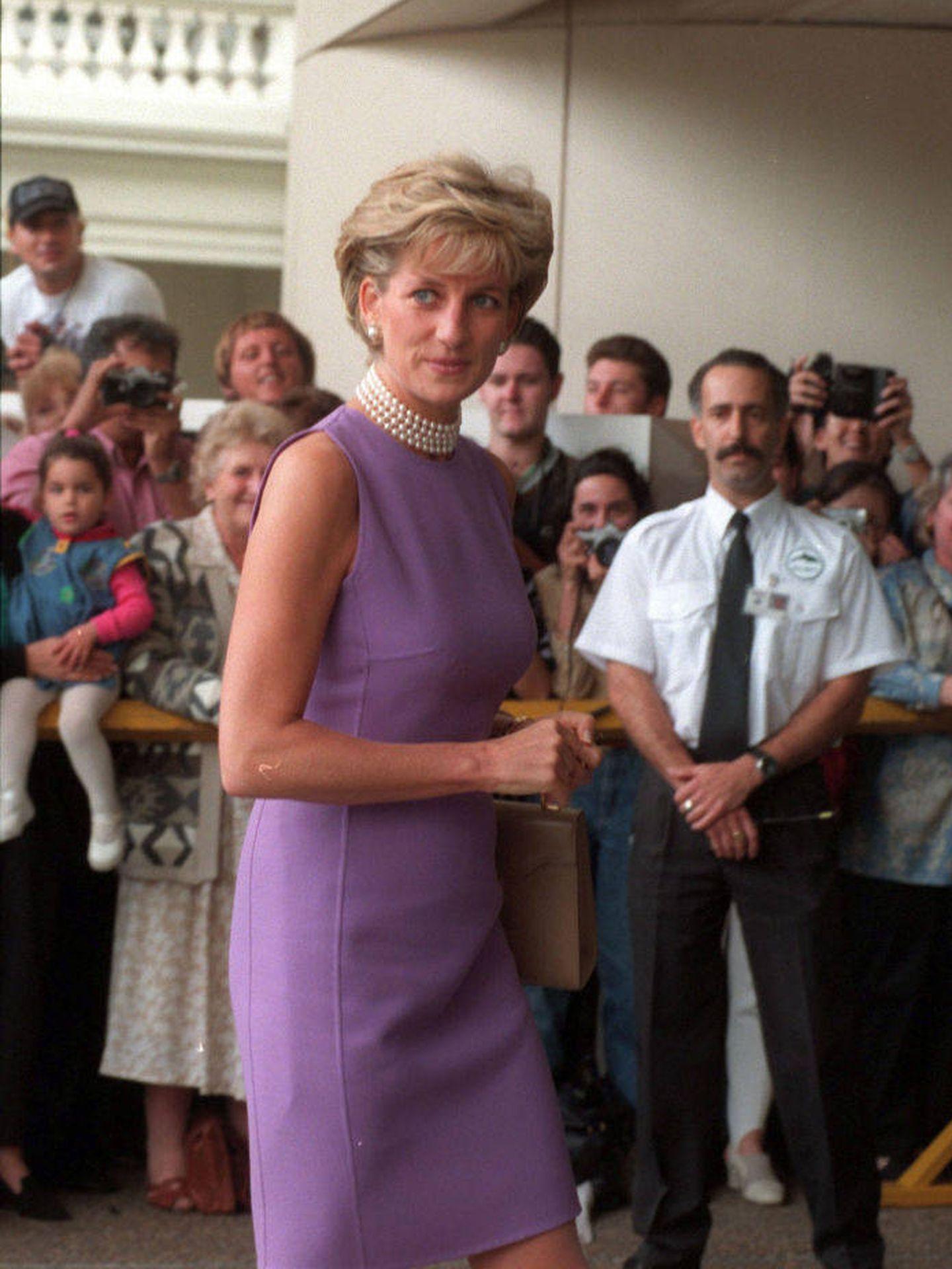Diana de Gales, en 1996. (Getty)