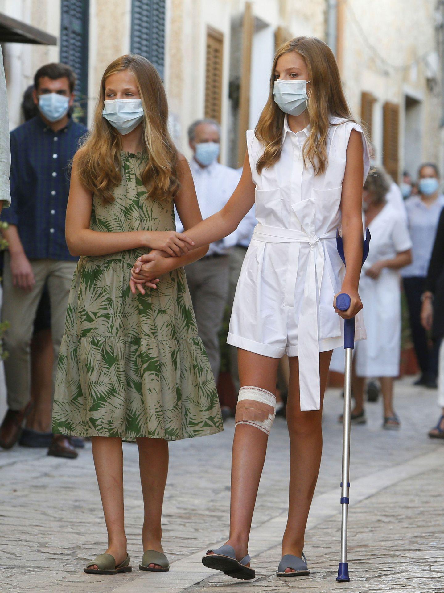 Leonor y Sofía. (Reuters)