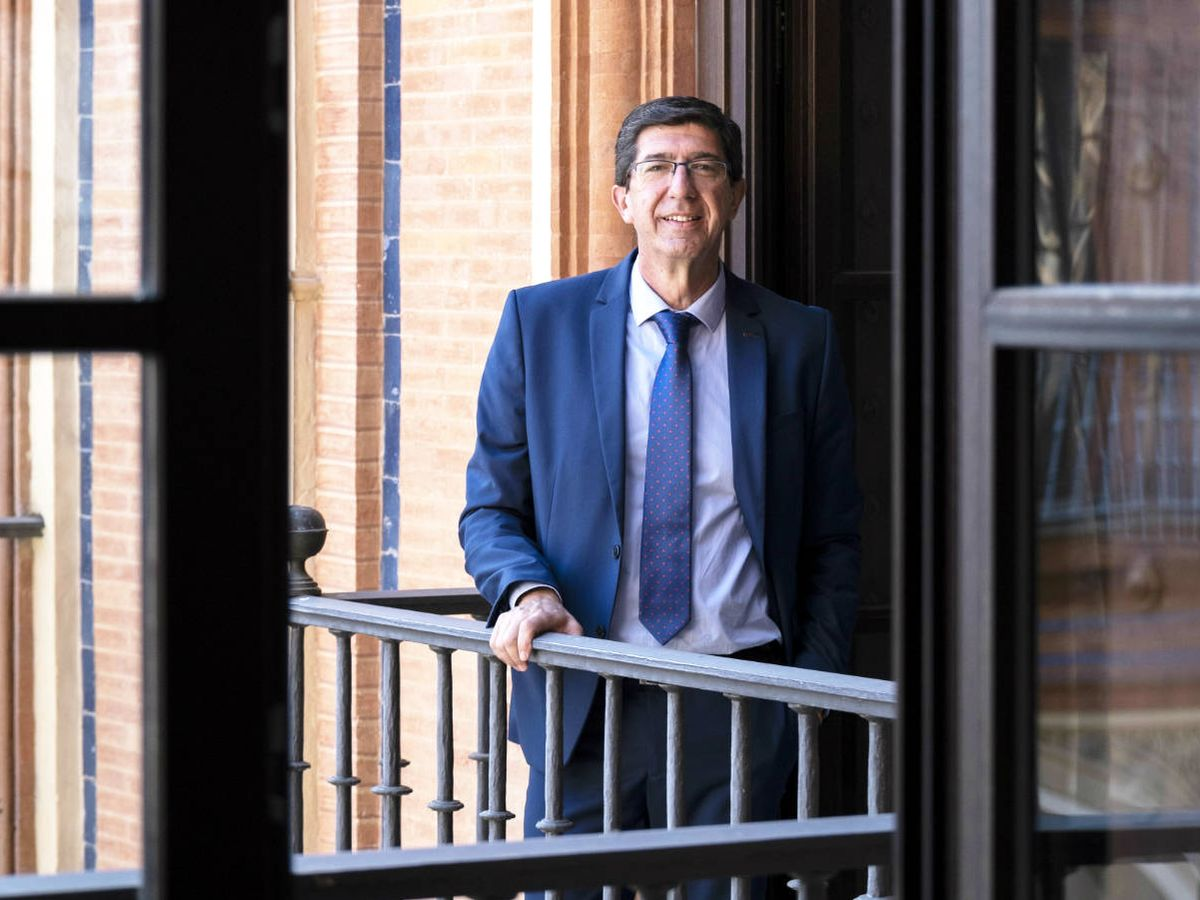 Foto: El vicepresidente de la Junta de Andalucía, Juan Marín. (Juan López-Cepero Benítez)