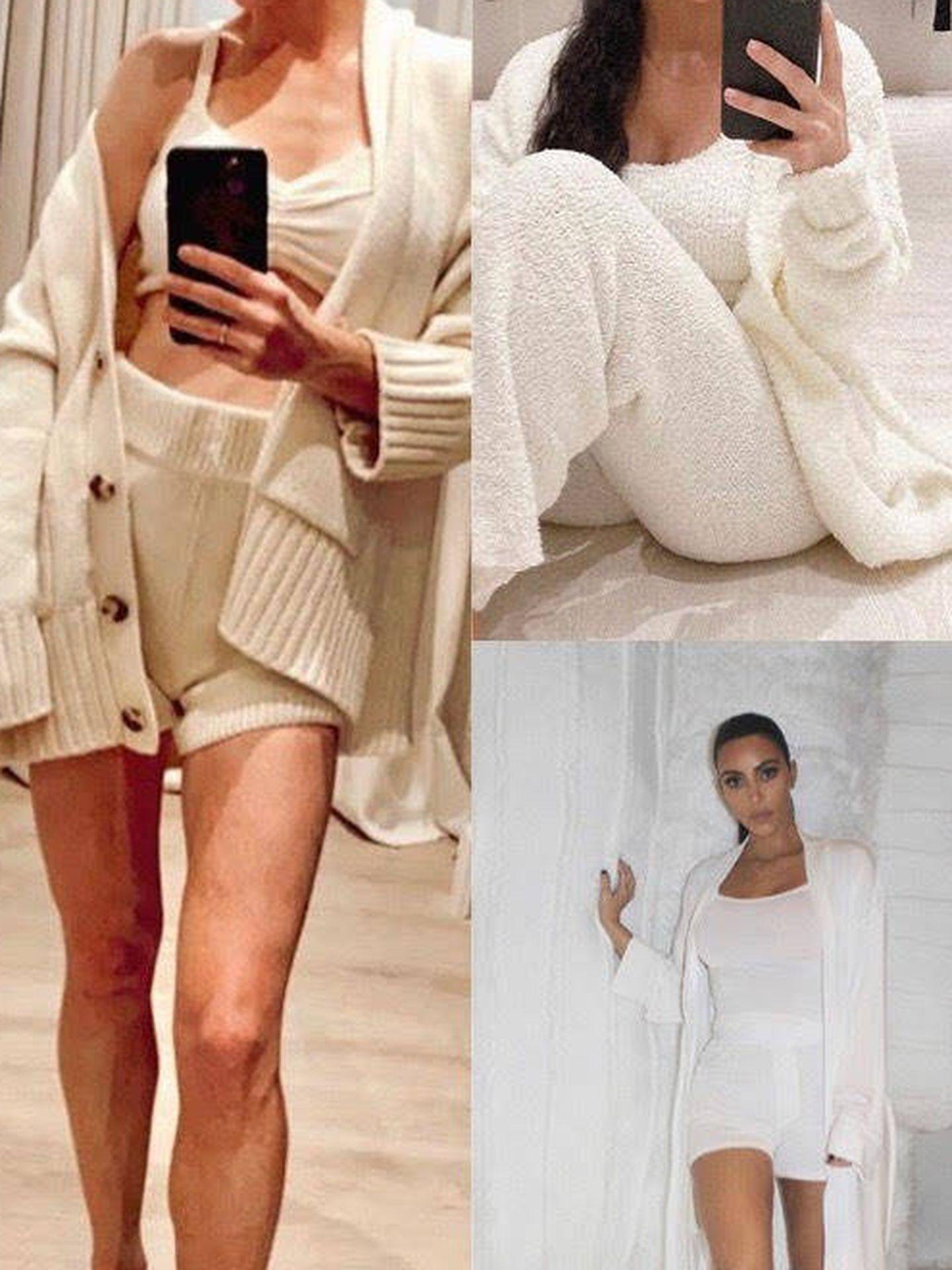 Amelia Bono y Kim Kardashian.  (Instagram)