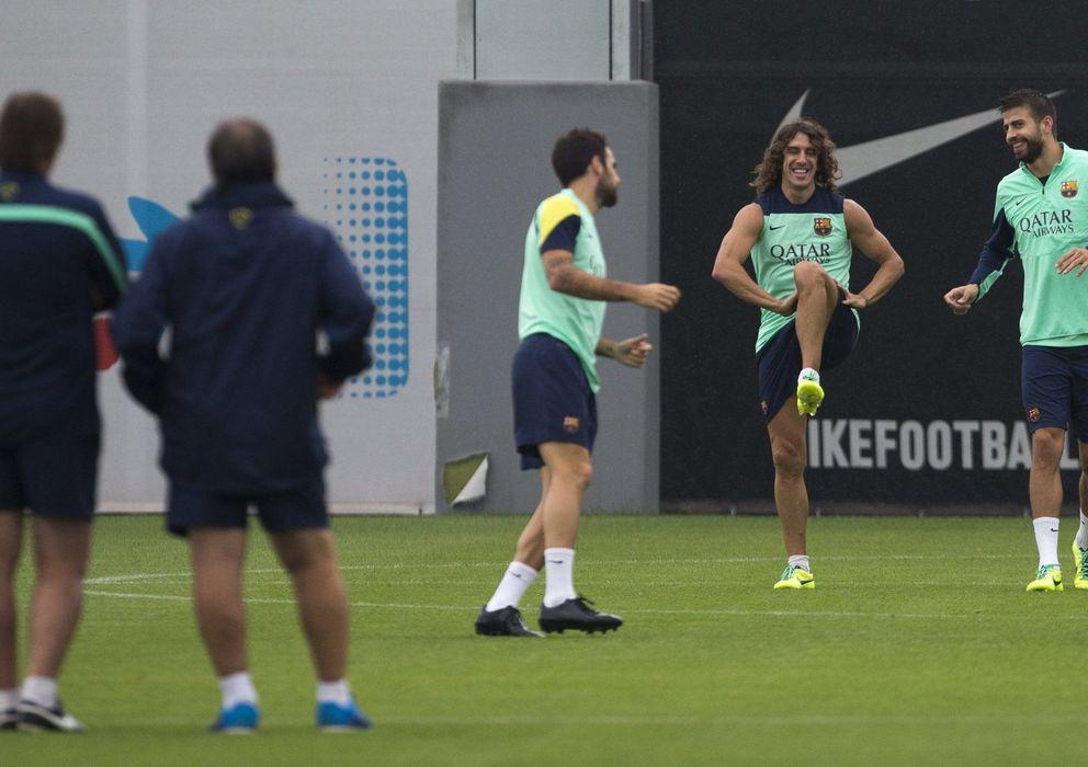 Foto: Carles Puyol, durante un entrenamiento con el Barcelona.