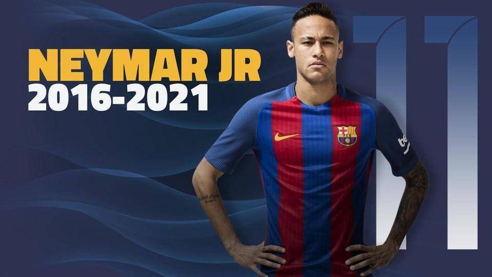 El Barça renueva a Neymar hasta 2021 y con una cláusula de rescisión creciente