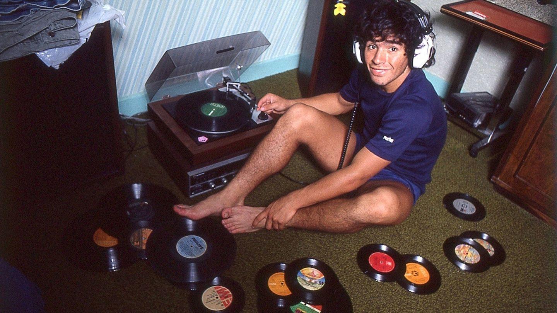 Otra imagen de Maradona.