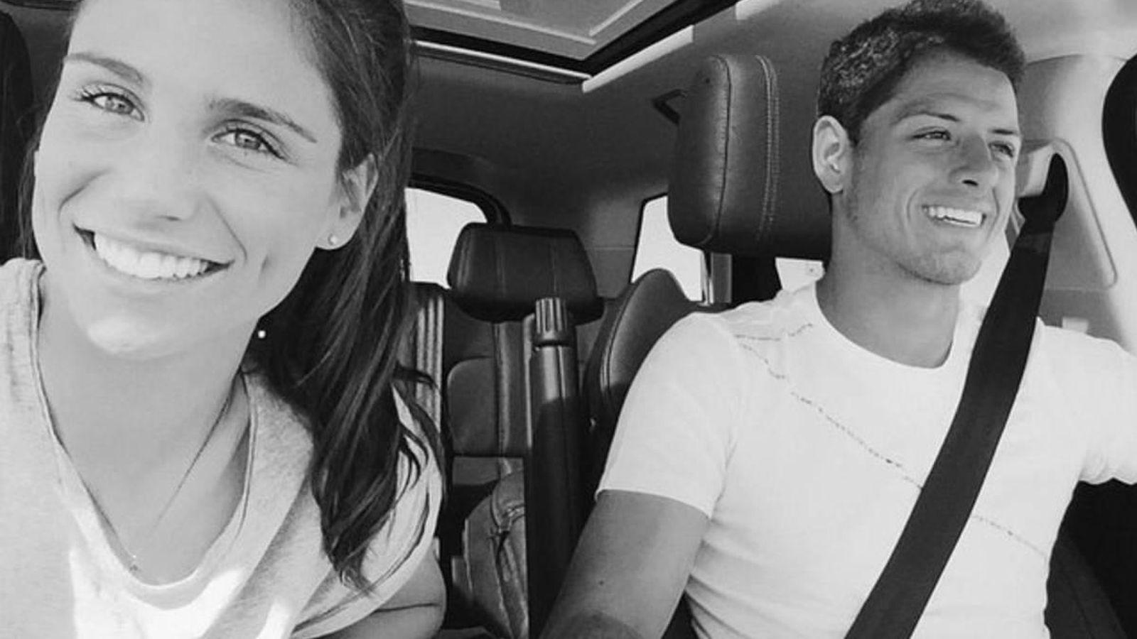Foto: Lucía Villalón y el futbolista Chicharito en una imagen de su perfil de Instagram