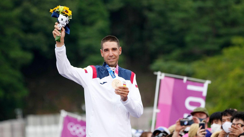 David Valero celebra su bronce en los Juegos Olímpicos. (Reuters)