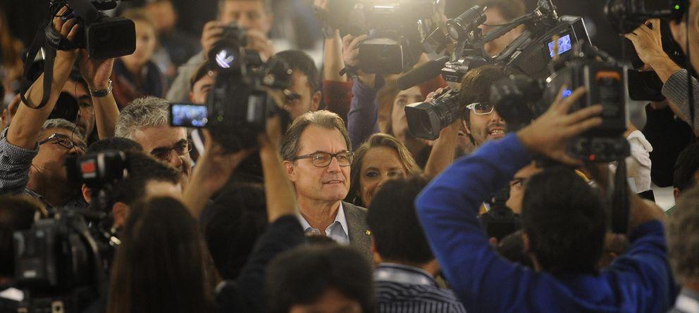 Foto: Artur Mas, tras el 9-N. (AP)