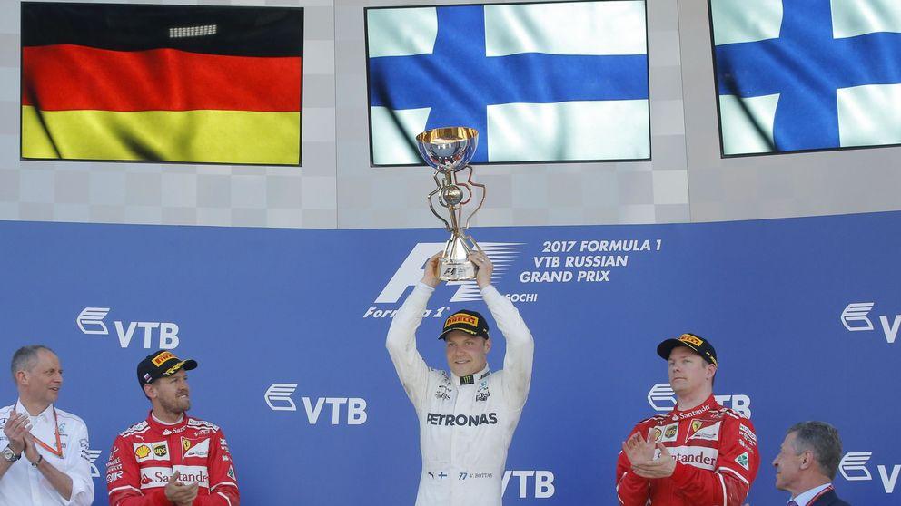Bottas gana la primera carrera de su vida; Sainz termina décimo y Alonso fuera
