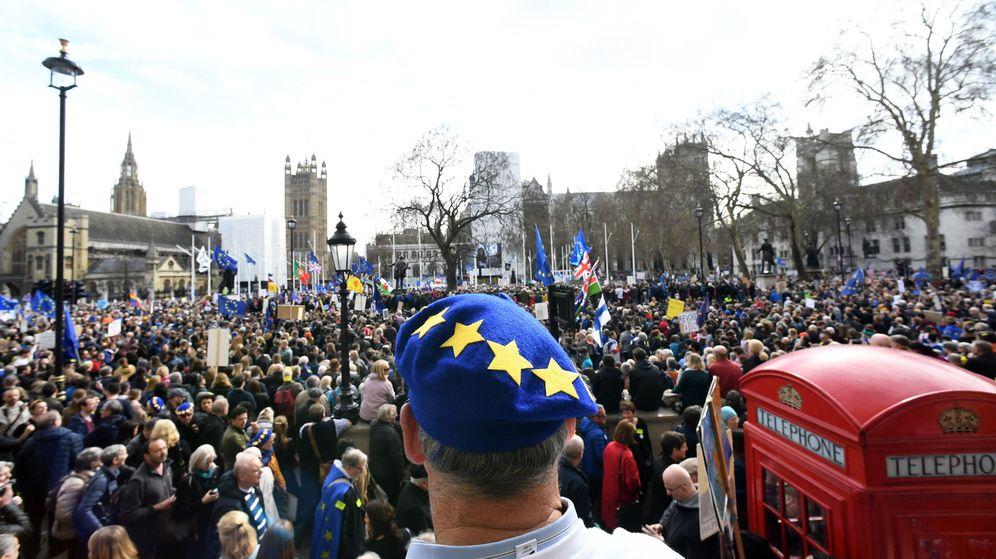 Foto: Manifestación a favor del Brexit en Londres. (EFE)