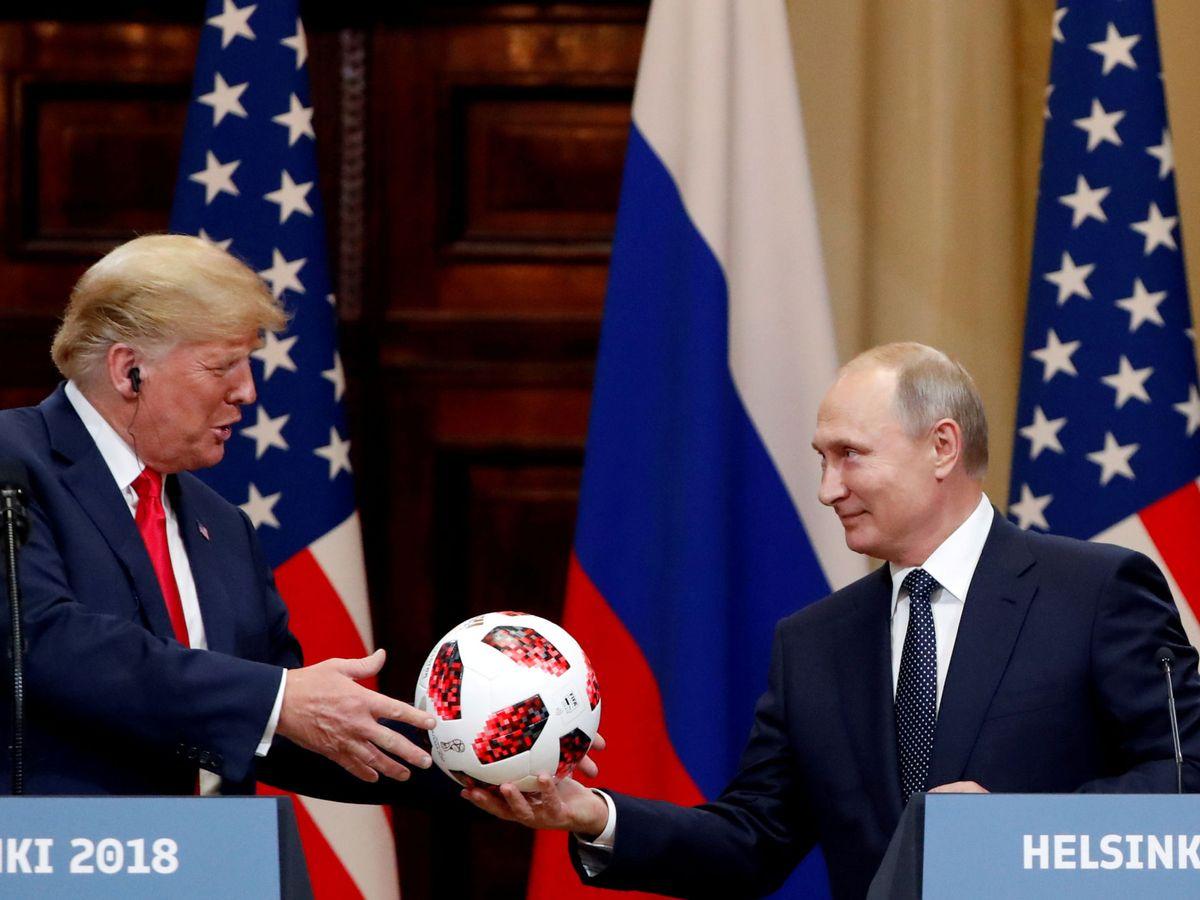 Foto: Foto de archivo de una reunión entre Donald Trump y Vladímir Putin. (Reuters)