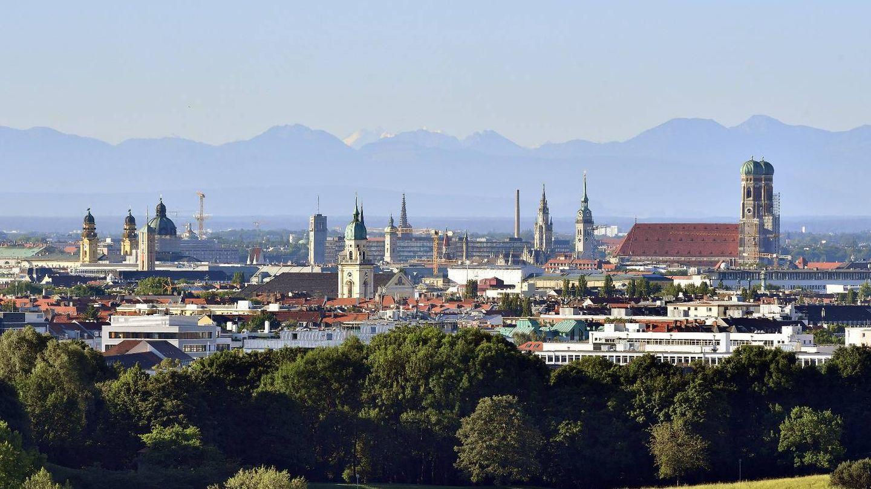 Panorámica de Múnich y los Alpes. (Getty)