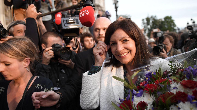 Anne Hidalgo, durante las elecciones municipales. (EFE)