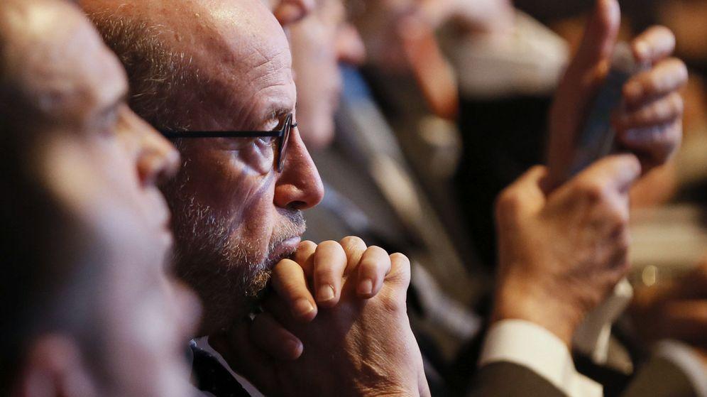 Foto: Emilio Saracho, en la reciente junta extraordinaria del Popular. (EFE)