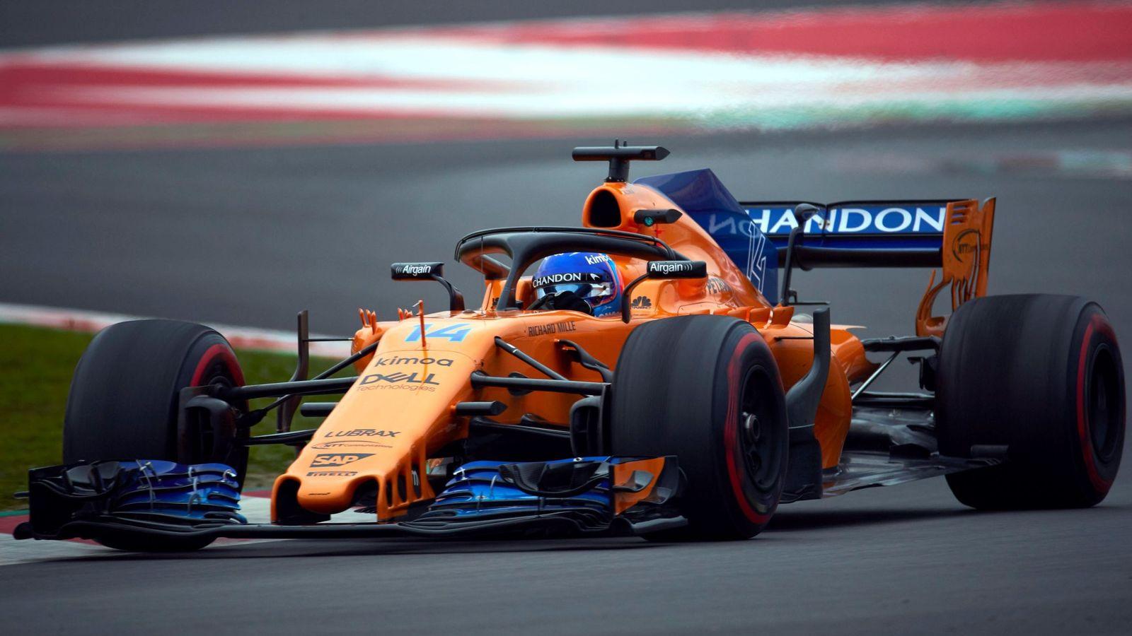 Foto: Fernando Alonso dio 51 vueltas este jueves en Montmeló. (EFE)