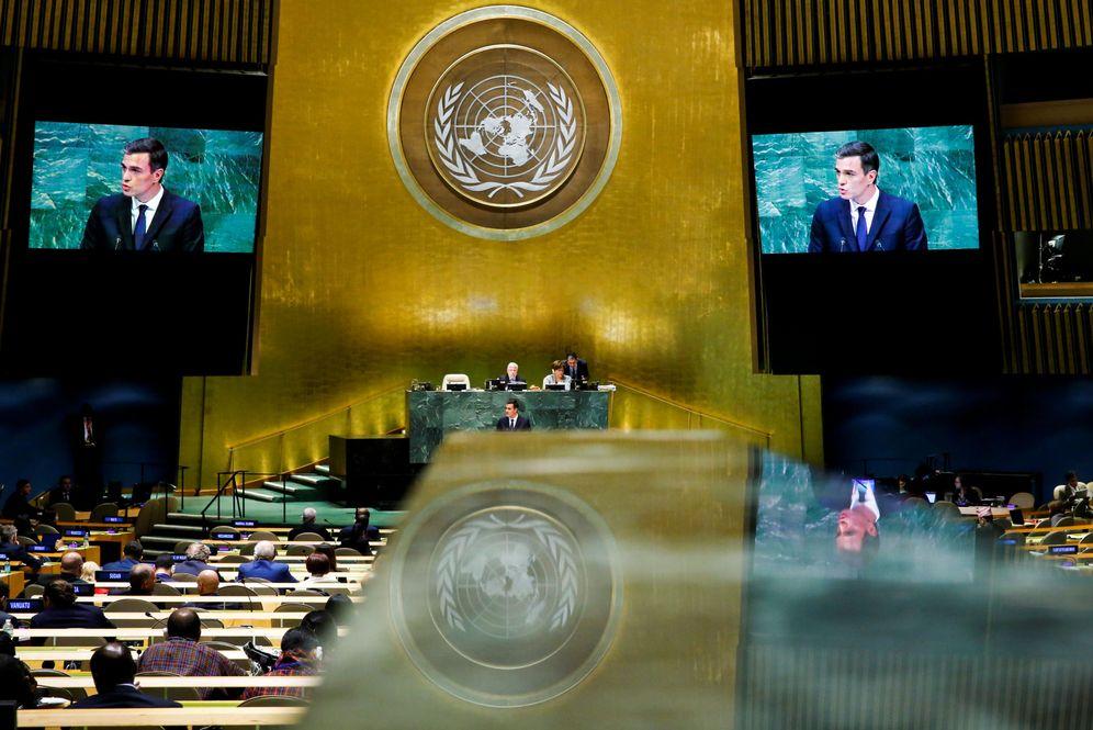 Foto: Pedro Sánchez, el 27 de septiembre de 2018, en la apertura del 73º periodo de sesiones de la Asamblea General de la ONU, en Nueva York. (Reuters)