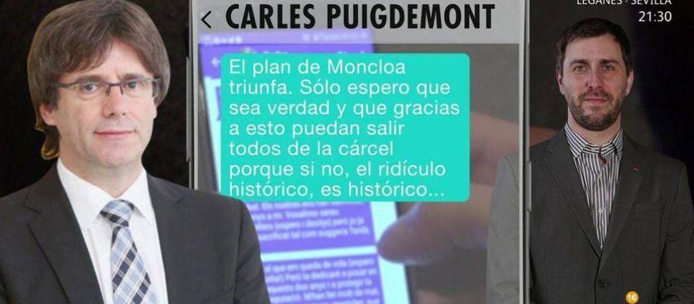 Foto: Vista de las conversaciones reveladas por 'El programa de Ana Rosa'. (Telecinco)