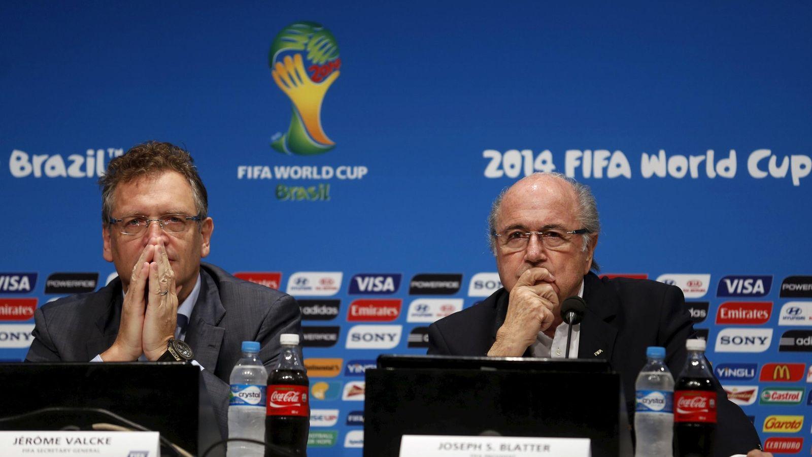 Foto: En la imagen, Jerome Valcke-a la izquierda- junto a Blatter (Reuters)