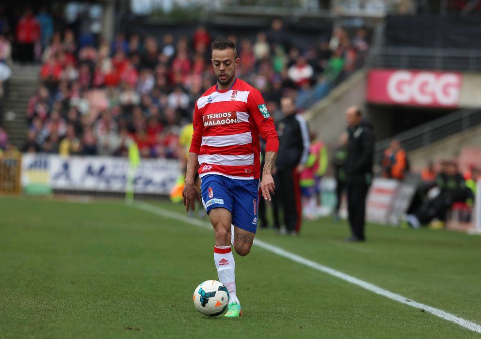Foto: Dani Benítez, jugador del Granada, durante un partido (Cordonpress)