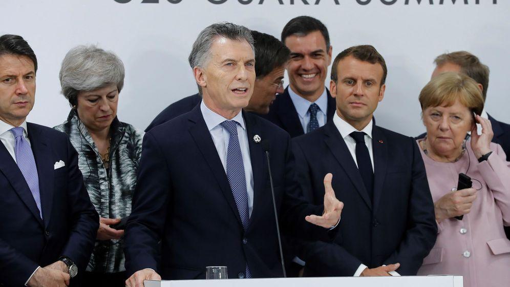 Foto: El presidente de Argentina, Mauricio Macri (c), participa en una sesión de valoración del acuerdo Unión Europea-Mercosur durante la Cumbre del G20 en Osaka, Japón. (EFE)