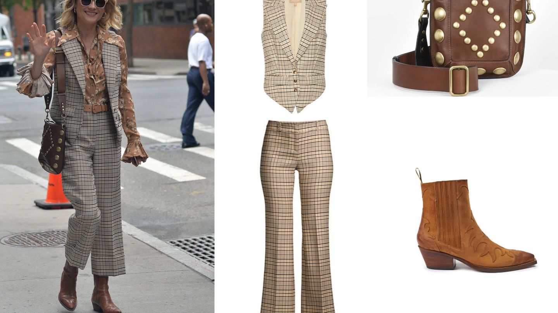 Diane Kruger con su look (Cordon Press). Saks Fifth Avenue, Moda Operandi, Isabel Marant, Santore.