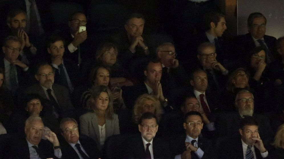 Foto: El palco del Bernabéu, una de las mayores concentraciones de dinero y poder de toda España. (EFE/Javier Lizón)