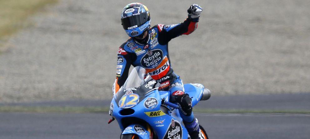 Foto: Alex Márquez celebra su victoria en el GP de Japón (Reuters).