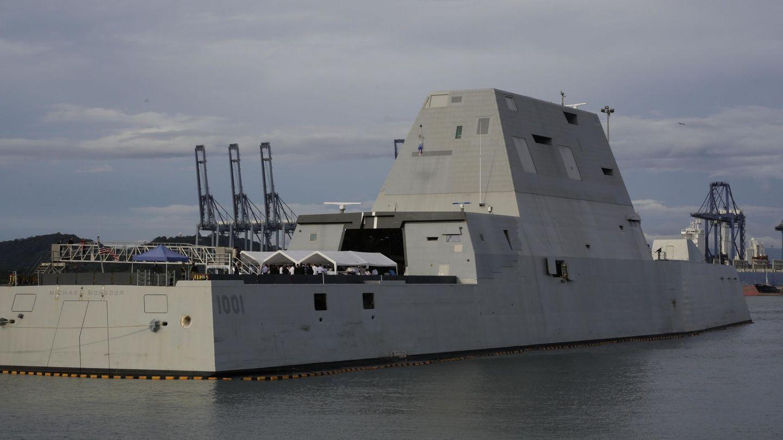 Vista general del destructor de la Armada de EEUU USS Michael Monsoor. (EFE)