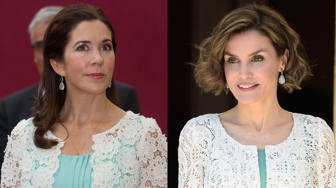 Foto: Mary de Dinamarca y la Reina Letizia con un atuendo parecido (Gtres)