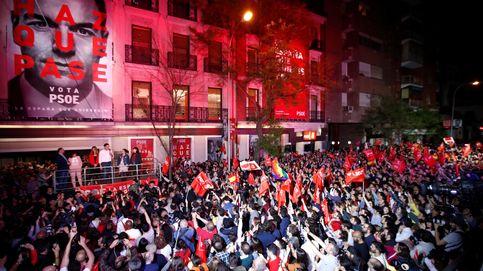 Así se viven los resultados de las elecciones generales en la sede del PSOE