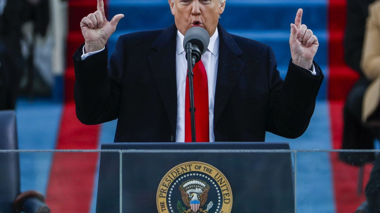 Foto: Donald J. Trump, pronuncia su discurso tras prestar juramento como el 45º presidente de la historia de los Estados Unidos. (EFE)