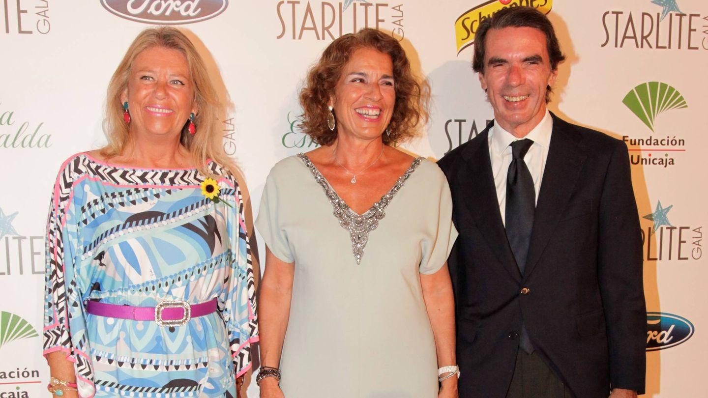 Ángeles Muñoz, Ana Botella y Aznar.