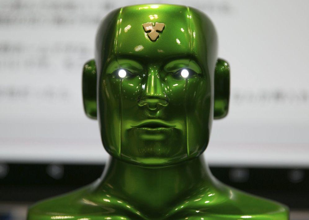 Foto: Un robot en la Feria de Inteligencia Artificial de Tokio. (Christopher Jue / Efe)