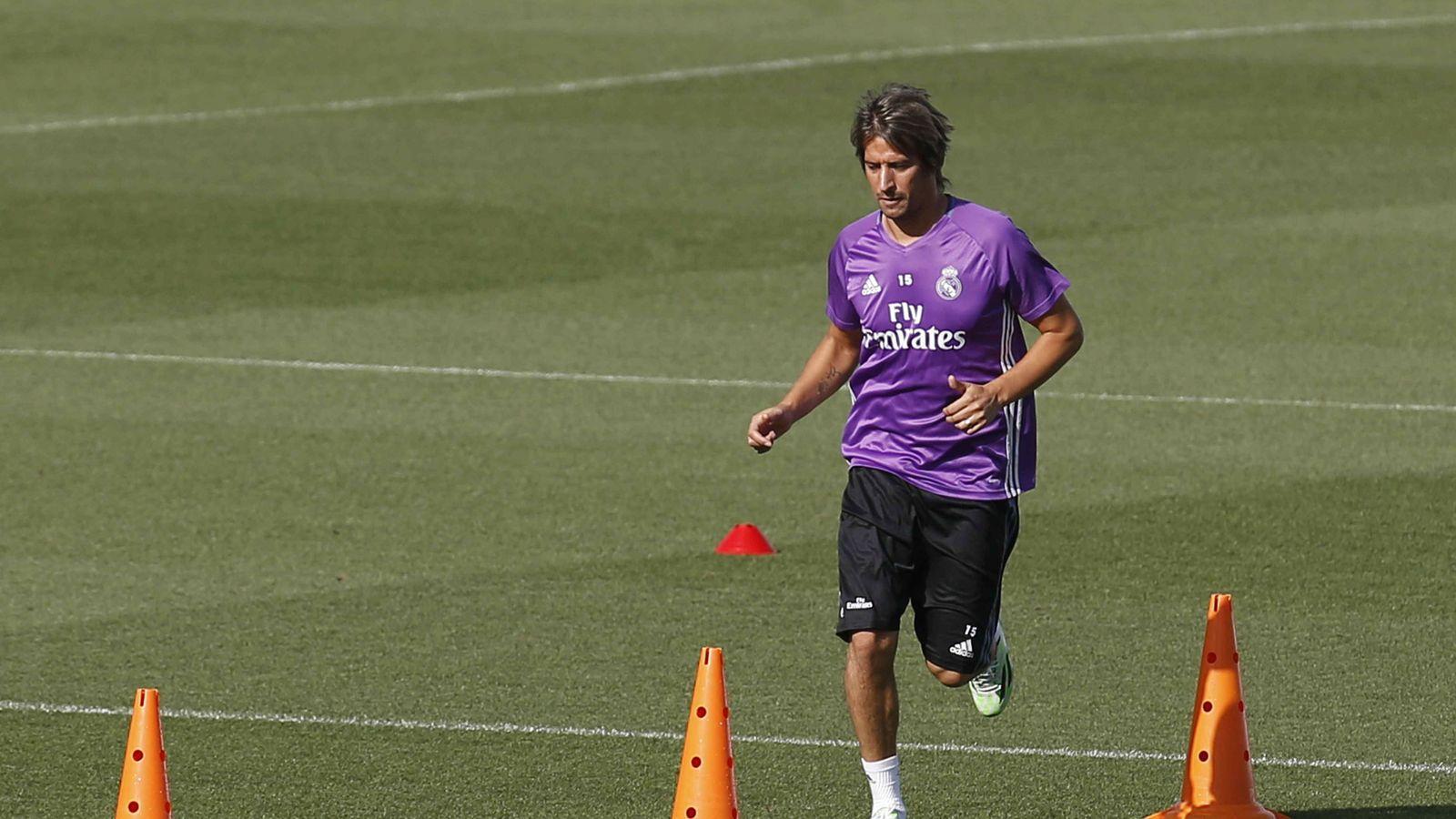 Foto: En la imagen, Fabio Coentrao durante un entrenamiento Real Madrid. (EFE)