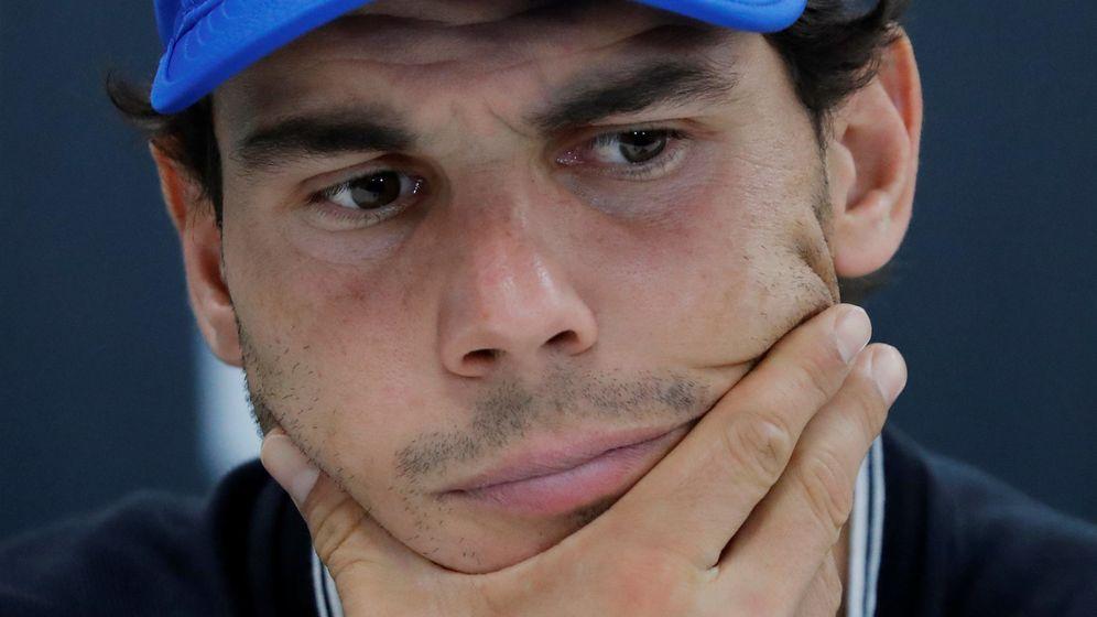 Foto: Rafa Nadal anunciando la retirada del Masters 1000 de París Bercy. (Reuters)