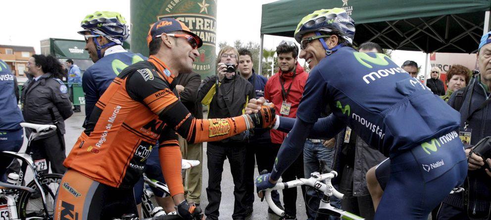 Foto: Rubén Plaza (Movistar) en la salida de la Vuelta a Murcia (Efe).