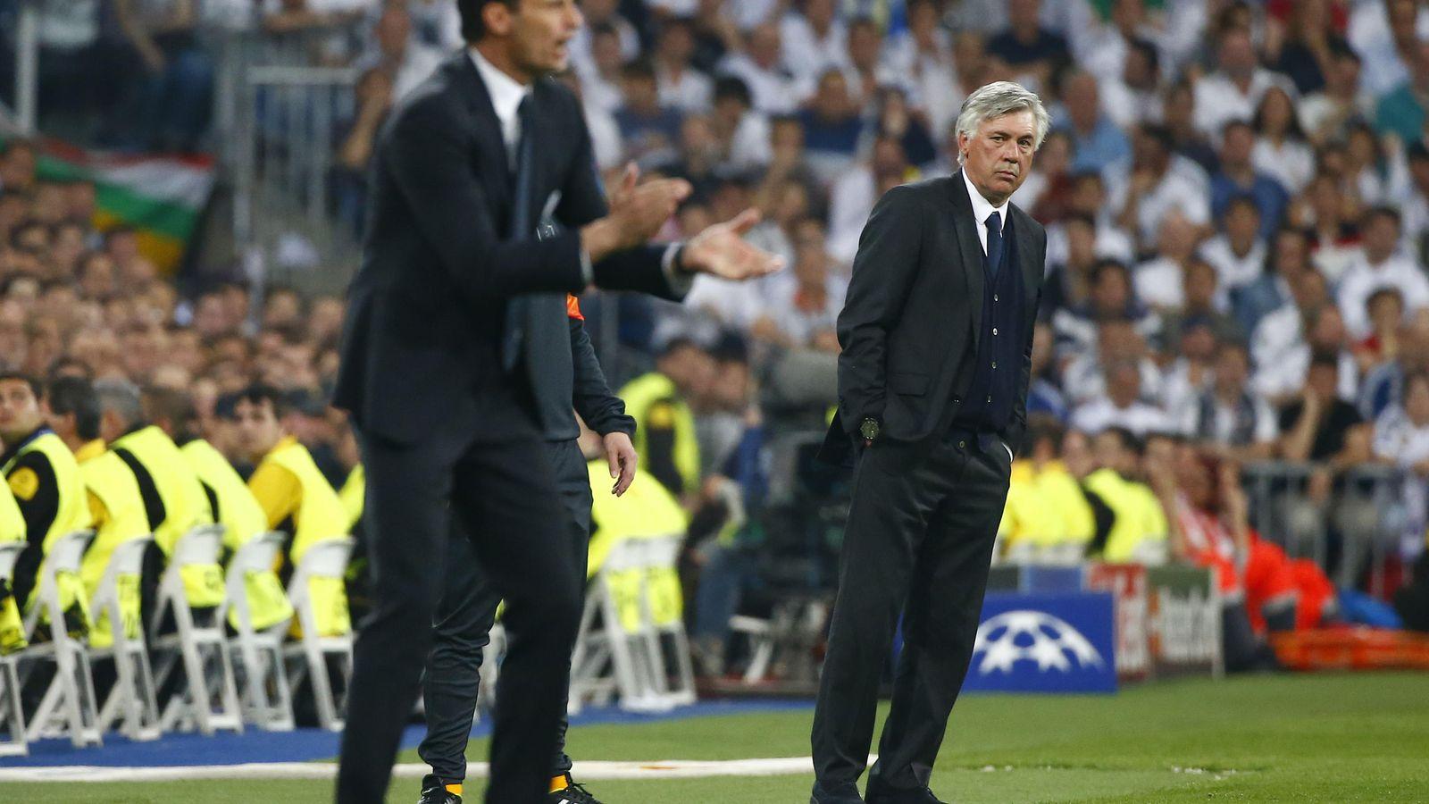 Foto: Ancelotti, en el partido ante la Juventus. (Reuters)