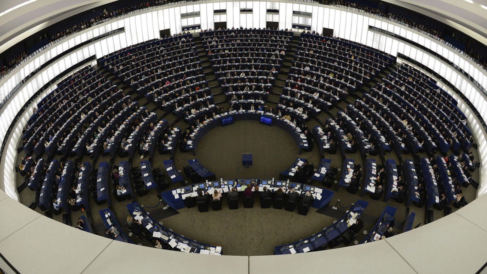 Foto: Sesión del Parlamento Europeo en Estrasburgo (EFE)