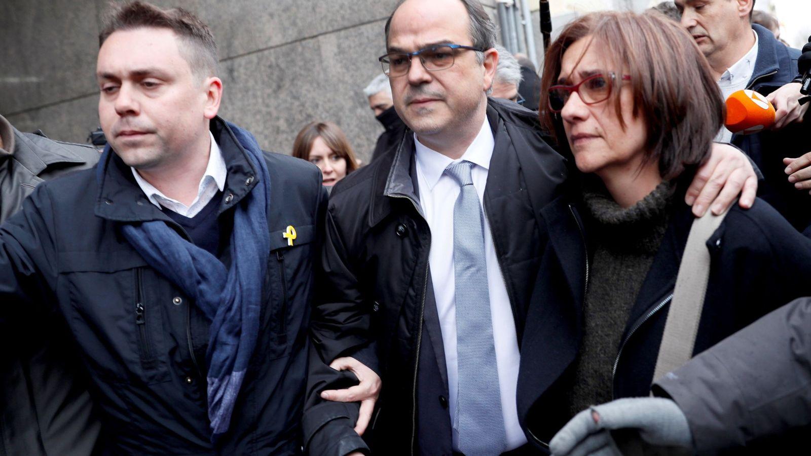 Foto: Jordi Turull a la salida del Tribunal Supremo este viernes. (EFE)