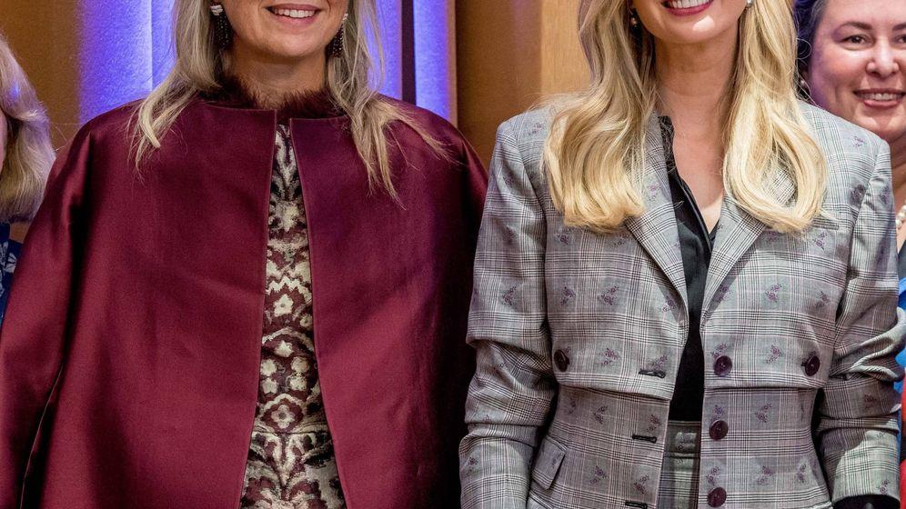 Foto: La reina Máxima e Ivanka Trump durante su encuentro. (Cordon Press)