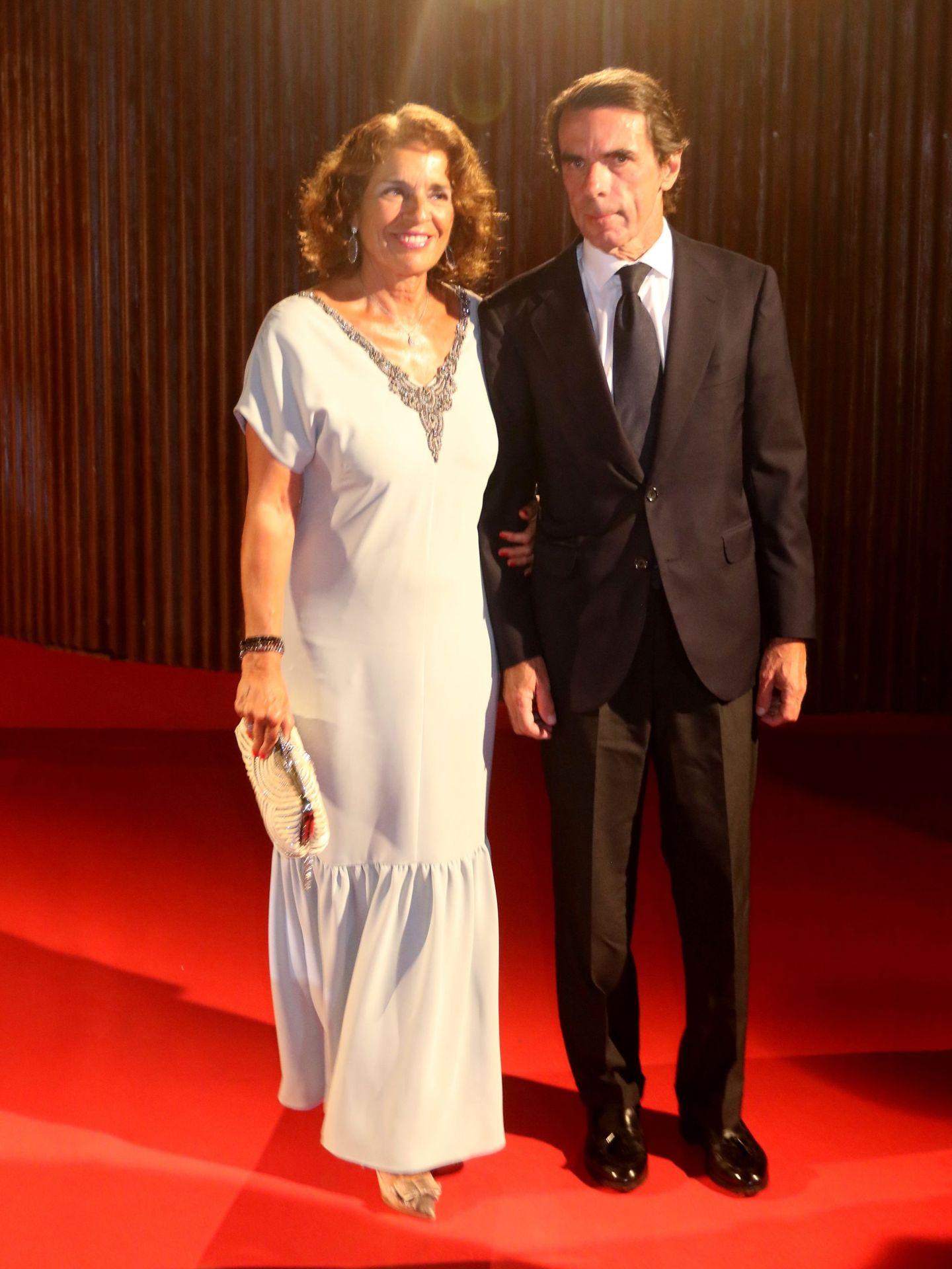 Ana Botella y José María Aznar, en la gala Starlite de Marbella. (CP)