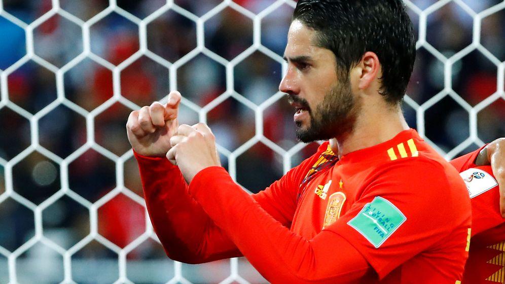 Foto: Isco celebra su gol ante Marruecos. (Reuters)