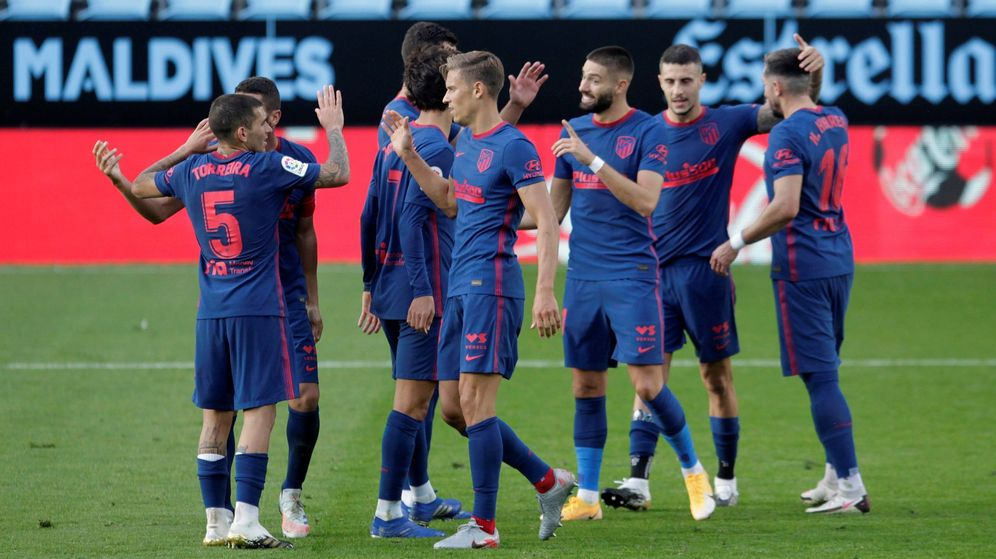 Foto: El Atlético celebra su segundo gol. (Efe)
